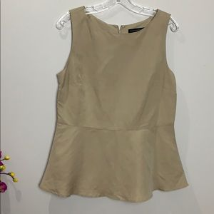 BANANA REPUBLIC  Camel coloured peplum top.